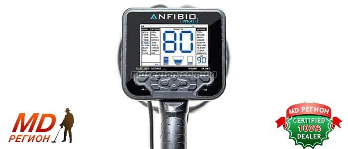 металлоискатель Nokta Anfibio Multi Light дисплей